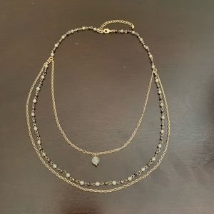 Kay Jewelers Black and White Bead Necklace
